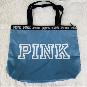 New PINK Victorias Secret Tote Spellout Bag Travel